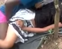 Indian girl fucking connected with outdoor.